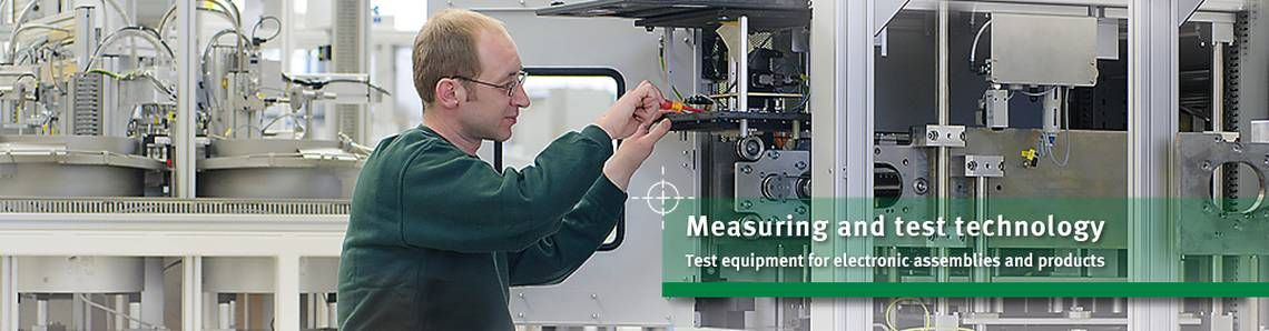 Test and measuring technology for PCBs and electronic assemblies