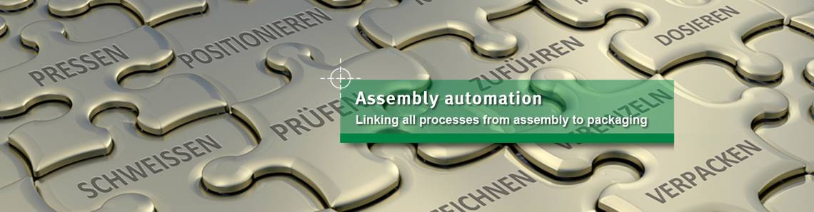 Assembly automation for production plants